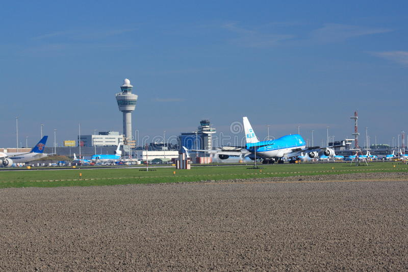 Schiphol Amsterdam Luchthaven royalty-vrije stock foto's