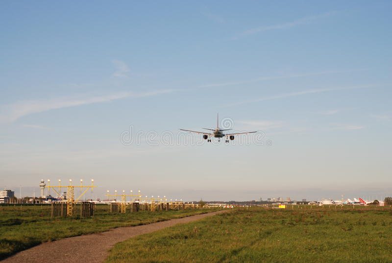 Schiphol de Baan van de Luchthaven royalty-vrije stock foto's