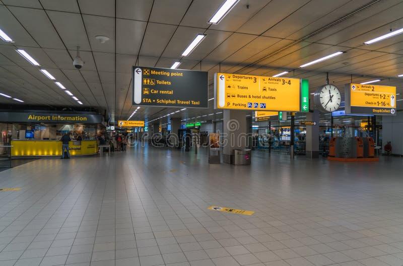 Schiphol flygplats arkivbilder