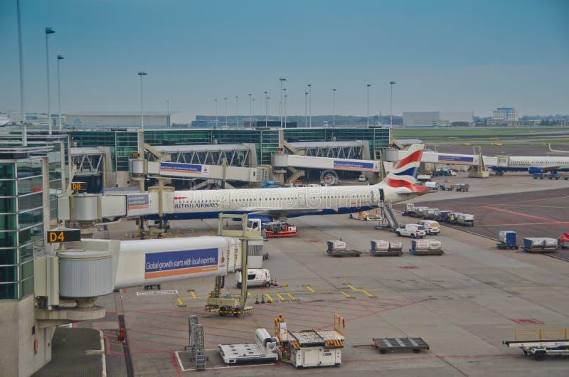 Schiphol lotniska powierzchowność obrazy royalty free