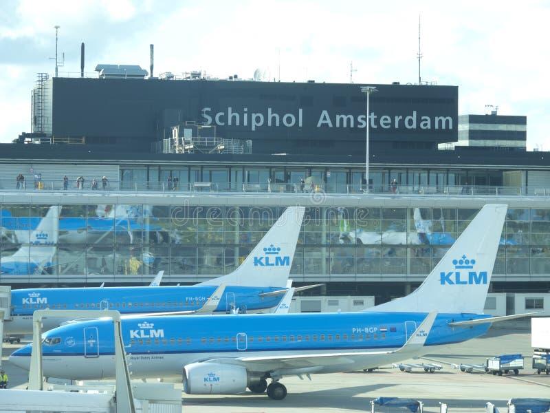 Schiphol Luchthaven, Amsterdam, Nederland. stock fotografie