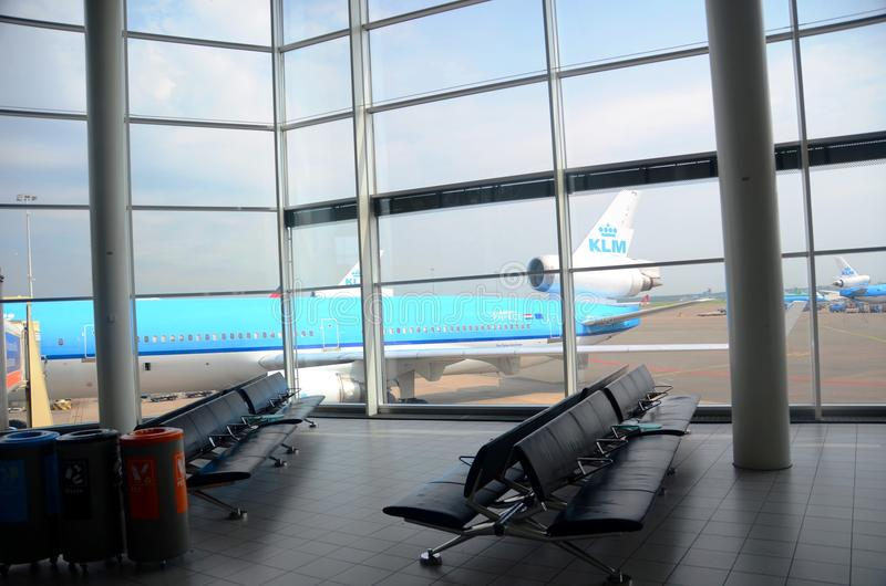 Schiphol luchthavenbinnenland royalty-vrije stock afbeelding