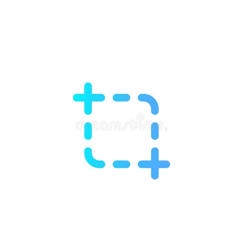 Schirmschuss-Vektorikonen-Zeichensymbol stock abbildung