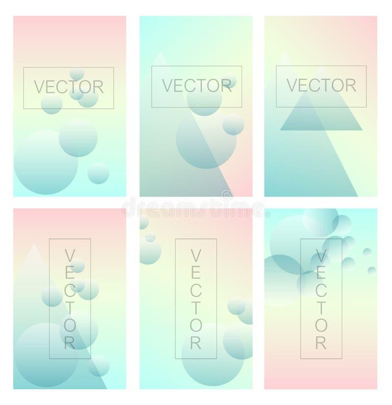 Schirmsteigung eingestellt mit modernen abstrakten Hintergründen stock abbildung