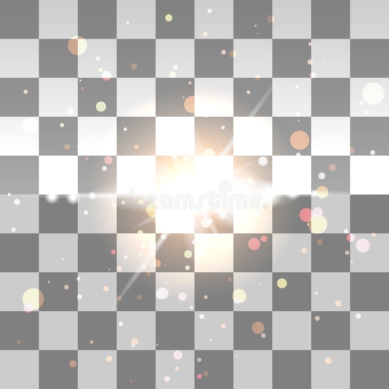 Schitter deeltjes achtergrondeffect royalty-vrije stock afbeelding
