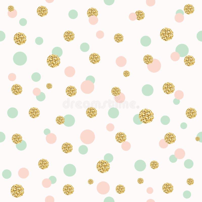 Schitter het naadloze patroon van de confettienstip royalty-vrije illustratie