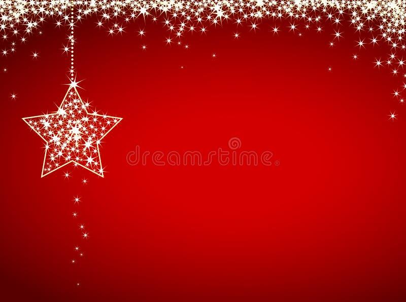 Schitter Kerstmiskaart vector illustratie