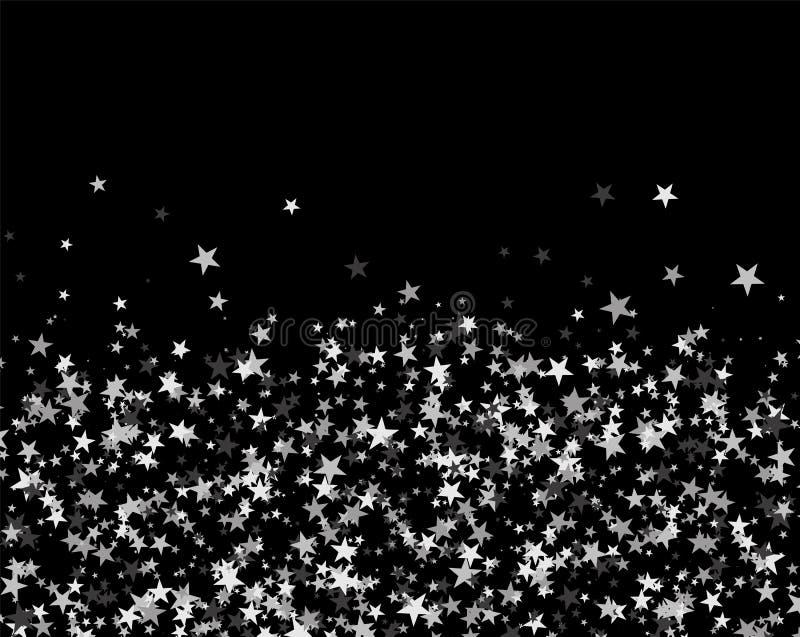 Schitter patroon van sterren wordt gemaakt die vector illustratie