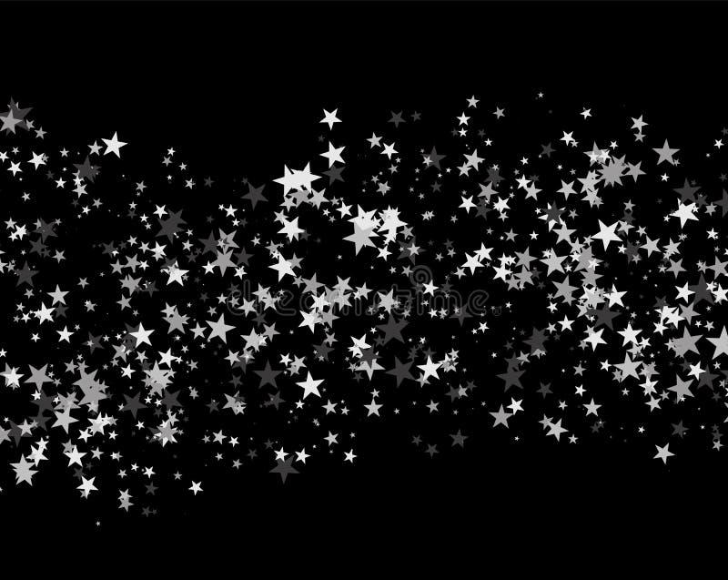 Schitter patroon van sterren wordt gemaakt die royalty-vrije illustratie