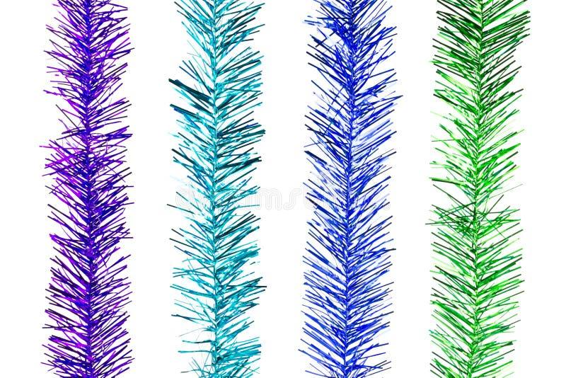 Schitter Regenboogstrepen voor Kerstmisdecoratie stock illustratie