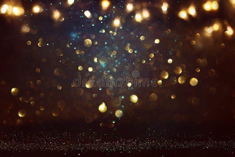 Schitter uitstekende lichtenachtergrond E DE-geconcentreerd stock foto