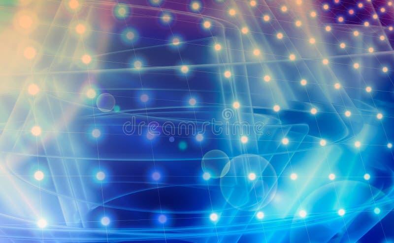 Schitter uitstekende lichtenachtergrond stock illustratie