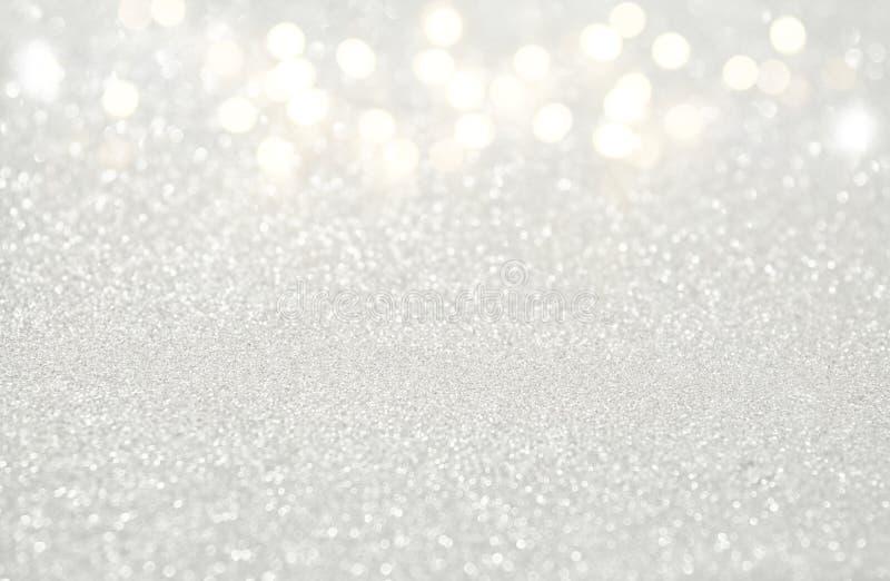 schitter uitstekende witte lichtenachtergrond DE-geconcentreerd royalty-vrije stock foto's