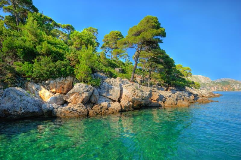 Schitterend aquamarijnlandschap stock foto