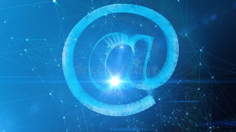 Schitterend bij Teken in Blauwe Cyberspace vector illustratie