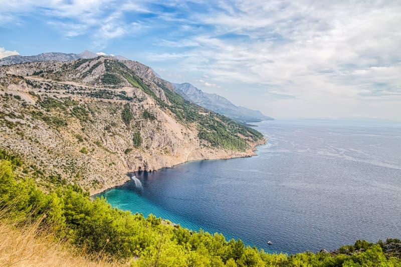 Schitterend de zomerlandschap van Dalmatische kust, Kroatië royalty-vrije stock foto's