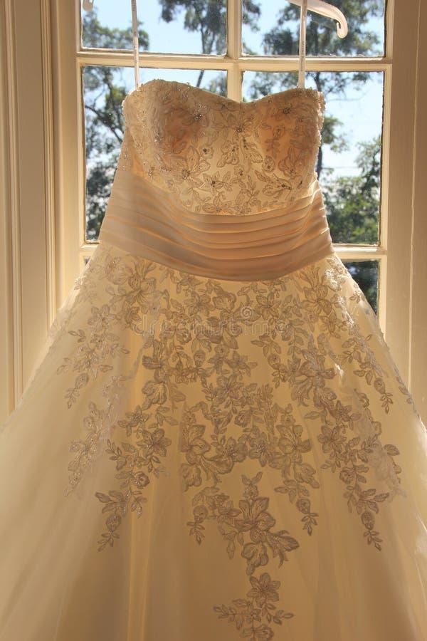 Schitterend detail van huwelijkstoga royalty-vrije stock foto's