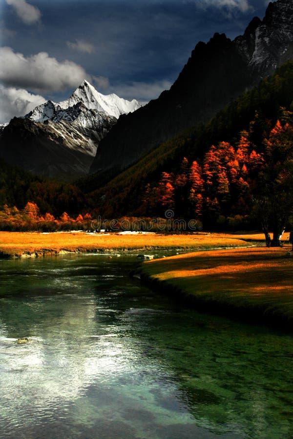 Schitterend landschap stock foto's