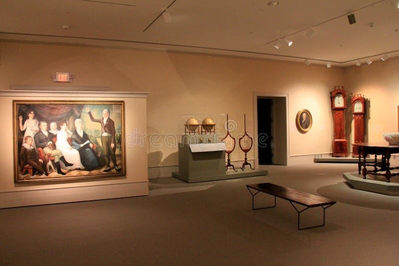 Schitterend meubels en kunstwerk in één van vele ruimten, Instituut van Geschiedenis en Kunst, Albany, New York, 2016 royalty-vrije stock fotografie