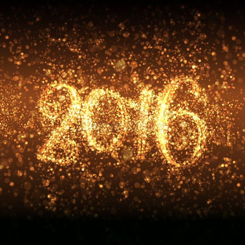 Schitterend Nieuwjaar 2016 stock illustratie