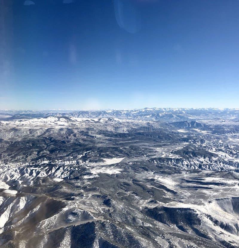 Schitterende Bergketen over Colorado stock afbeelding