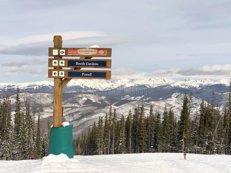 Schitterende Bergketen over Colorado 2 stock fotografie