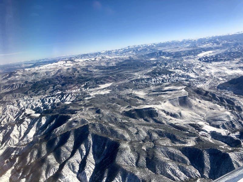 Schitterende Bergketen over Colorado 3 stock foto's