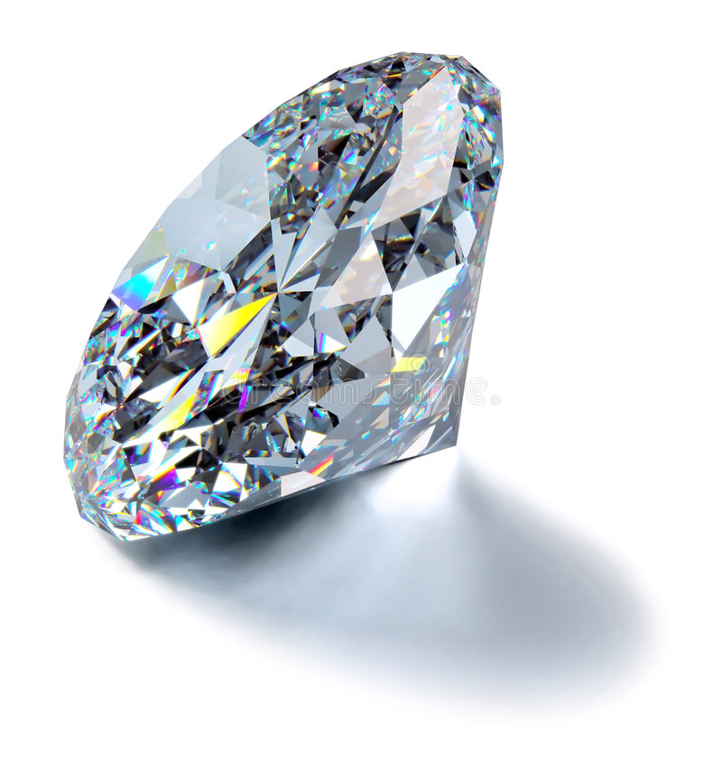 Schitterende Diamant royalty-vrije illustratie