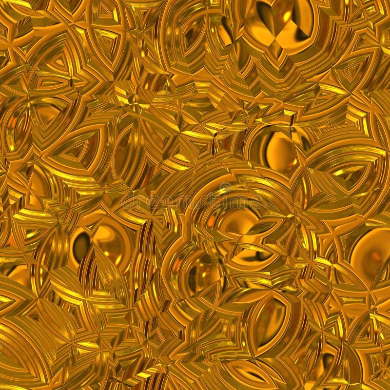 Schitterende gouden oppervlakte vector illustratie