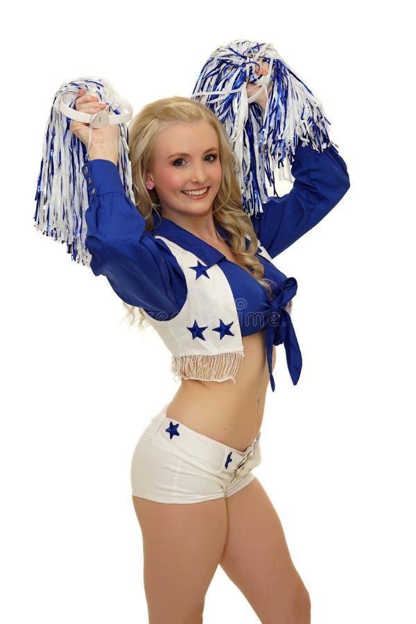 Schitterende jonge cheerleader royalty-vrije stock fotografie