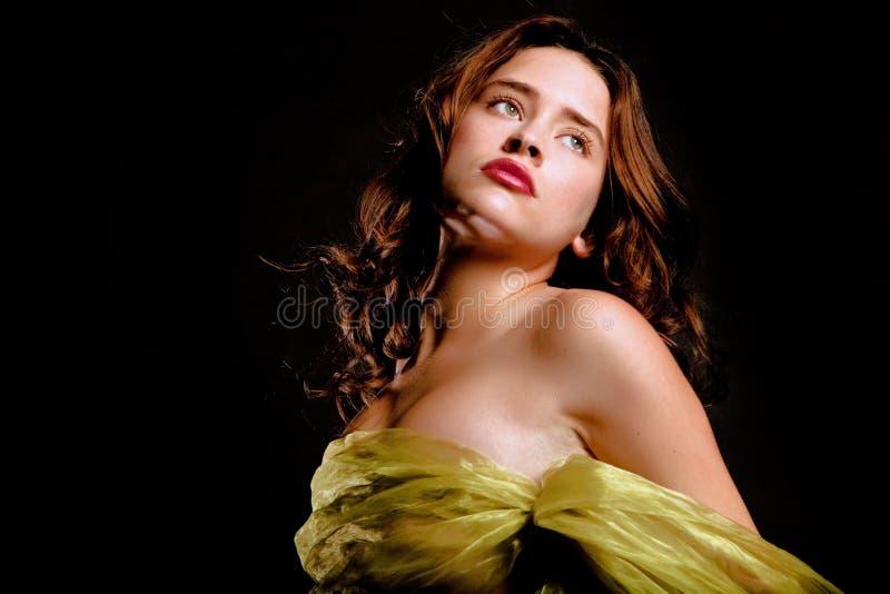 Schitterende jonge vrouw royalty-vrije stock afbeelding