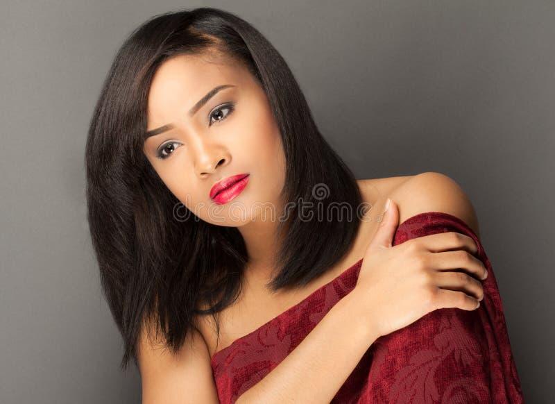 Schitterende multiraciale vrouw royalty-vrije stock afbeelding