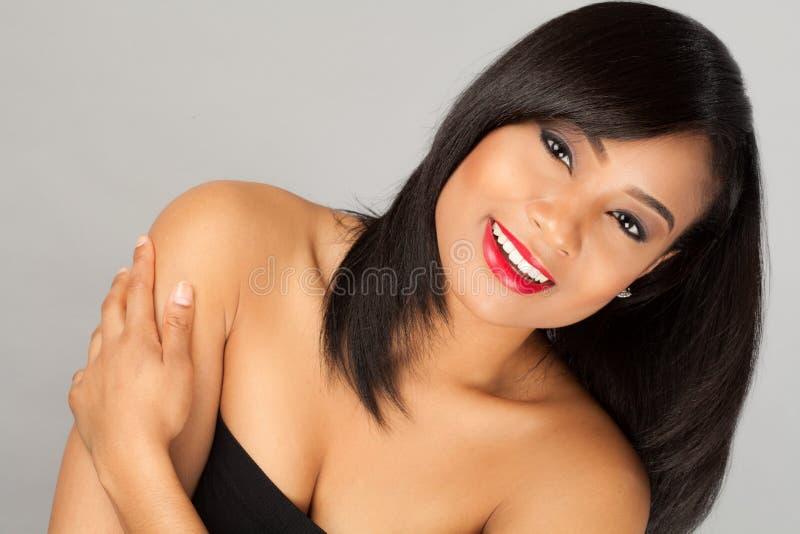 Schitterende multiraciale vrouw stock afbeeldingen
