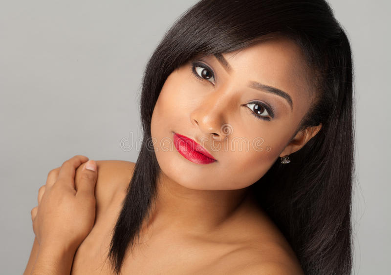 Schitterende multiraciale vrouw royalty-vrije stock fotografie