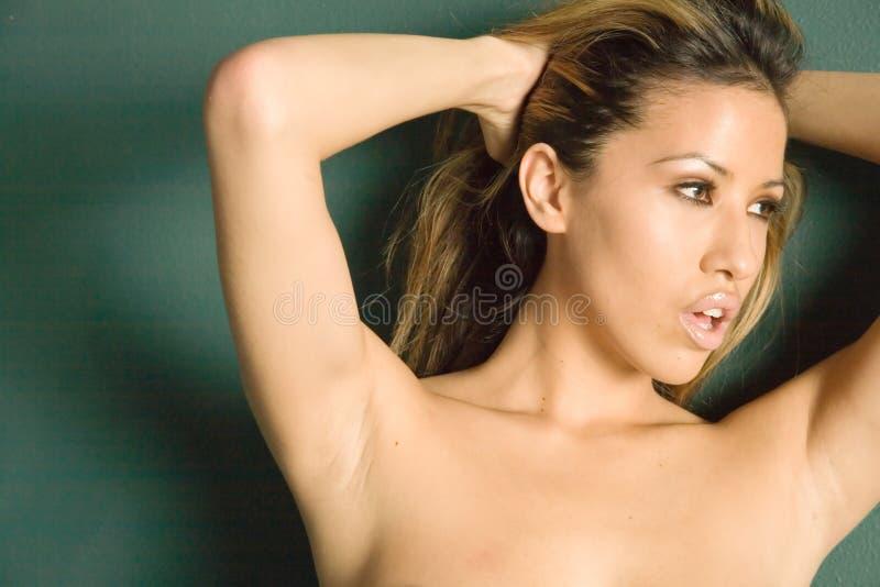 Schitterende vrouw stock afbeelding