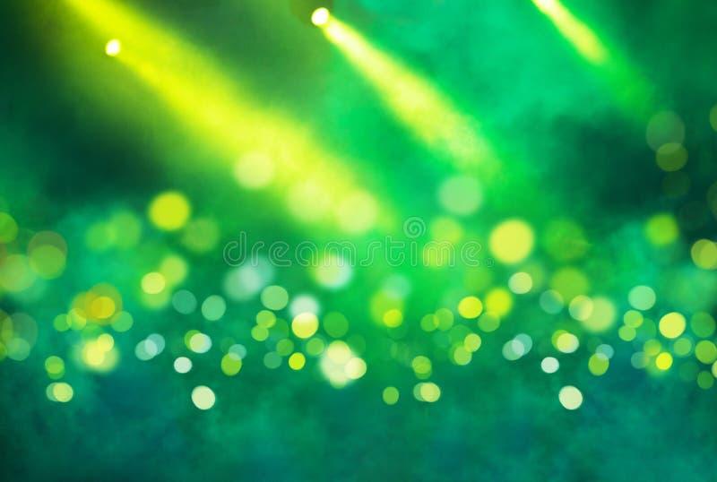 Schittert de stadium lichte projector en geel lichten royalty-vrije stock foto