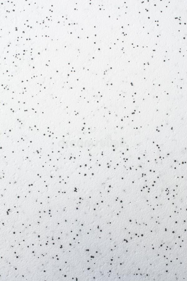 Schiuma del poliestere di struttura che consiste delle palle bianche e nere fotografia stock libera da diritti