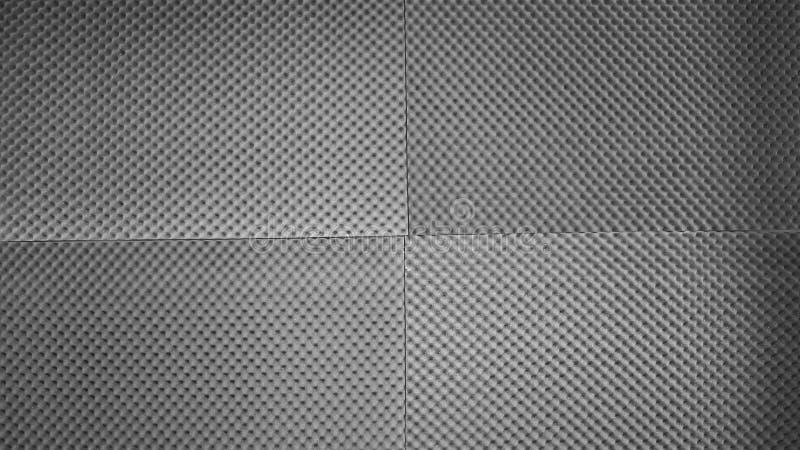 Schiuma fonoisolante del fono assorbente sulla parete dello studio immagini stock