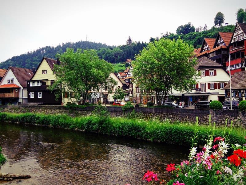 Schiutach-Dorf lizenzfreie stockbilder