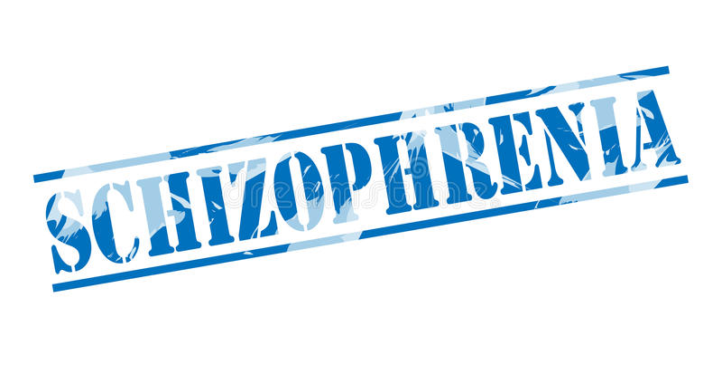 Schizofreni błękita znaczka znaczek ilustracja wektor