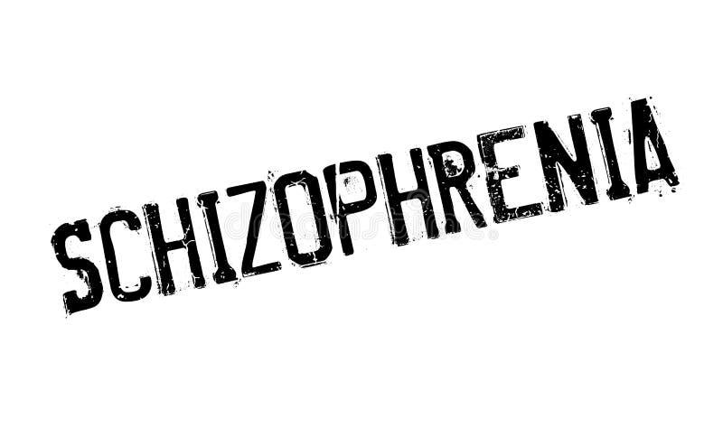 Schizofreni pieczątka ilustracja wektor