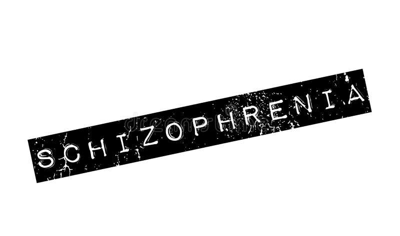 Schizofreni pieczątka royalty ilustracja