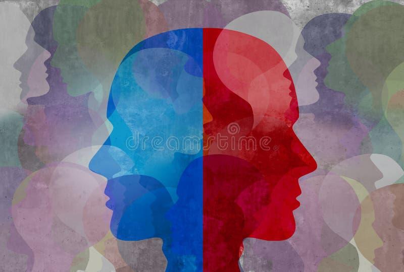 schizofrenie royalty-vrije illustratie