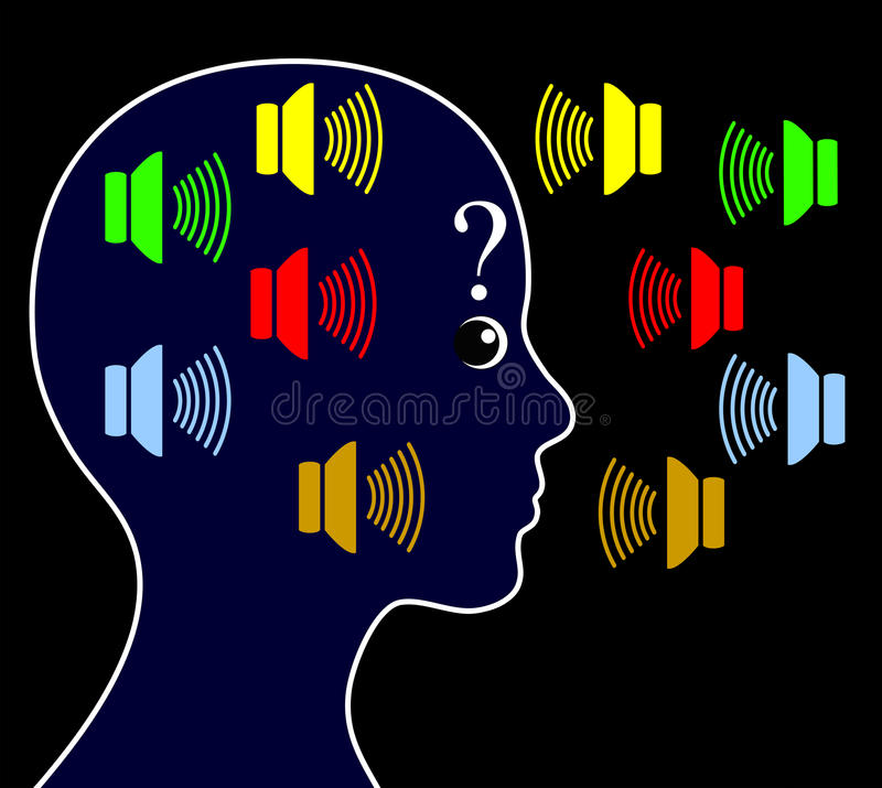 Free Schizophrenia With Hearing Voices Royalty Free Stock Photography - 53504597