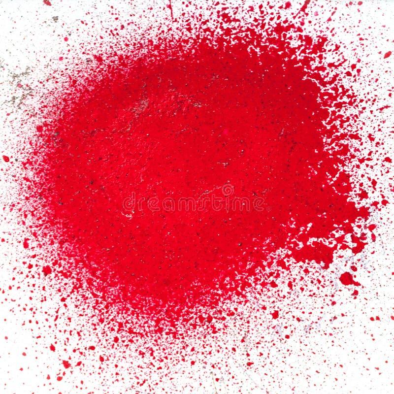 Schizzi di pittura rossa da una bomboletta spray fotografia stock libera da diritti