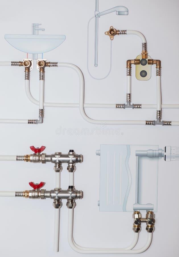 Schizzo dei dispositivi di impianto idraulico del bagno - Impianto idraulico del bagno ...