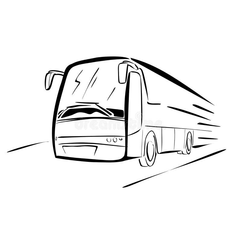 Schizzo del bus illustrazione vettoriale