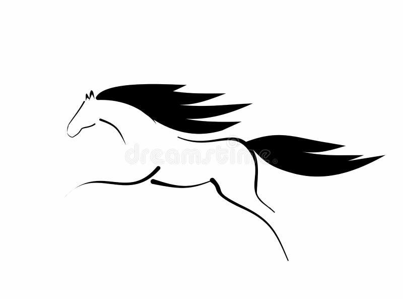 Schizzo del cavallo di salto royalty illustrazione gratis
