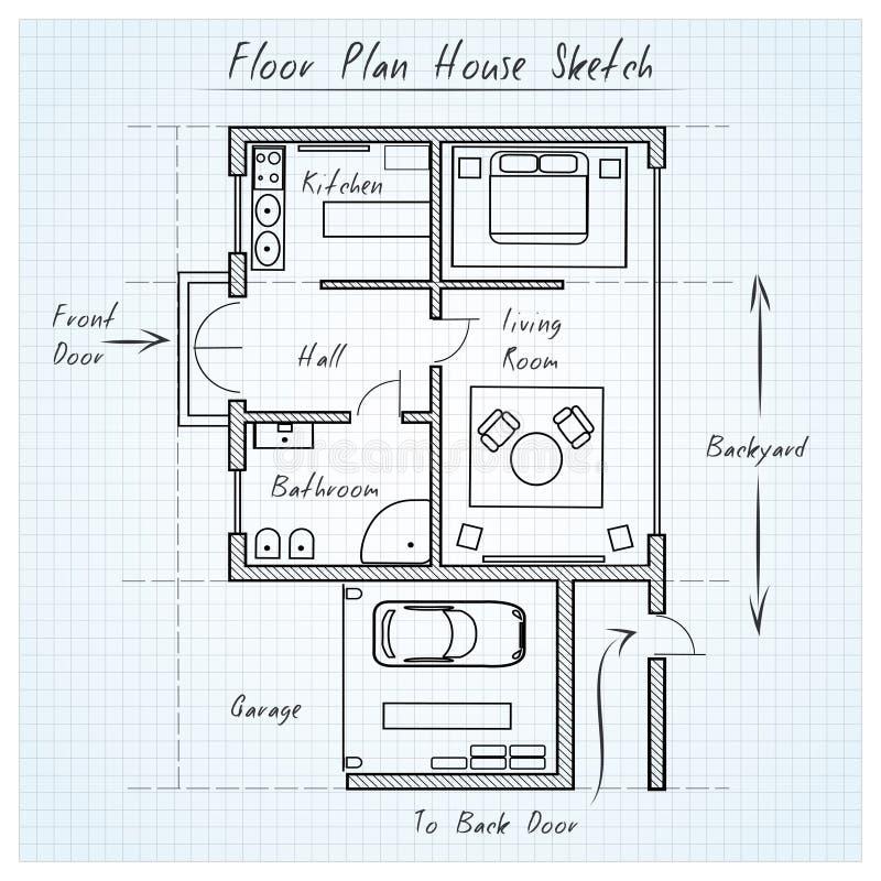 Schizzo della casa della pianta illustrazione vettoriale for Creatore della pianta della casa
