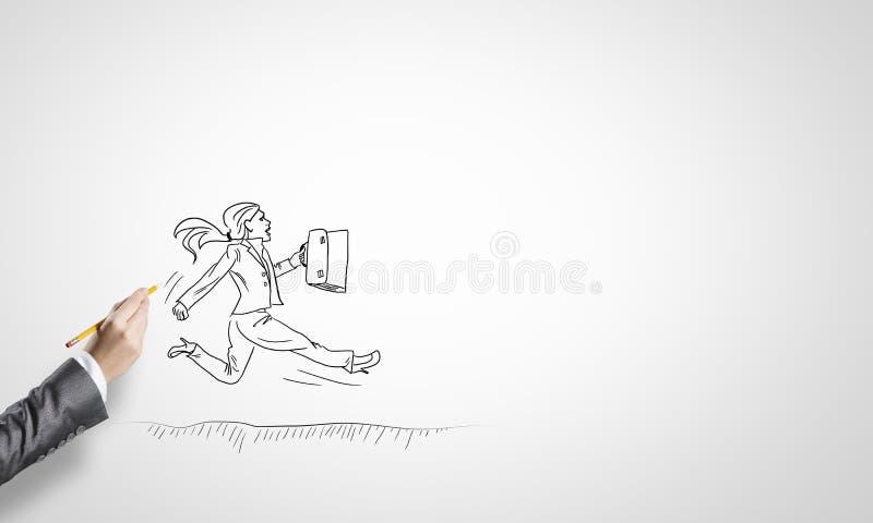 Schizzo della donna di affari royalty illustrazione gratis